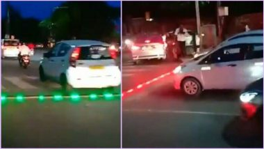 LED Speed breakers in HYD :పైన కాదు.. కింద చూడాలి. రోడ్డుపైనే ట్రాఫిక్ సిగ్నల్స్.  ఇండియాలోనే తొలిసారిగా హైదరాబాద్ లో ట్రాఫిక్ పోలీసుల వినూత్న ప్రయోగం
