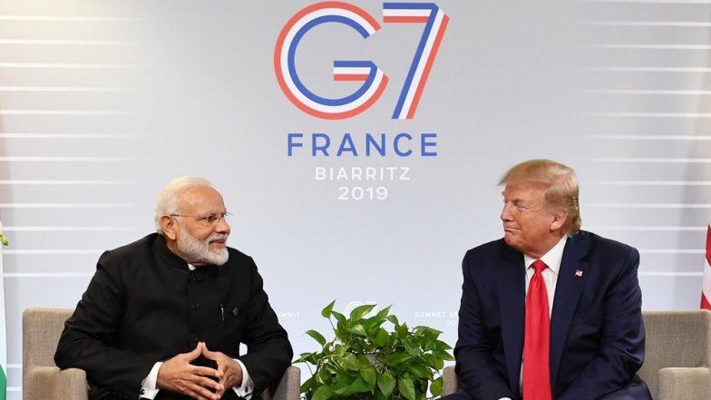 Trump Meets Modi at G7: జీ7 సదస్సులో భారత్ పైచేయి. జమ్మూ కాశ్మీర్ 'ద్వైపాక్షిక' అంశమే అని మరోసారి వ్యాఖ్యానించిన అమెరికా అధ్యక్షుడు డొనాల్డ్ ట్రంప్. భారత ప్రధానితో వివిధ అంశాలపై చర్చ
