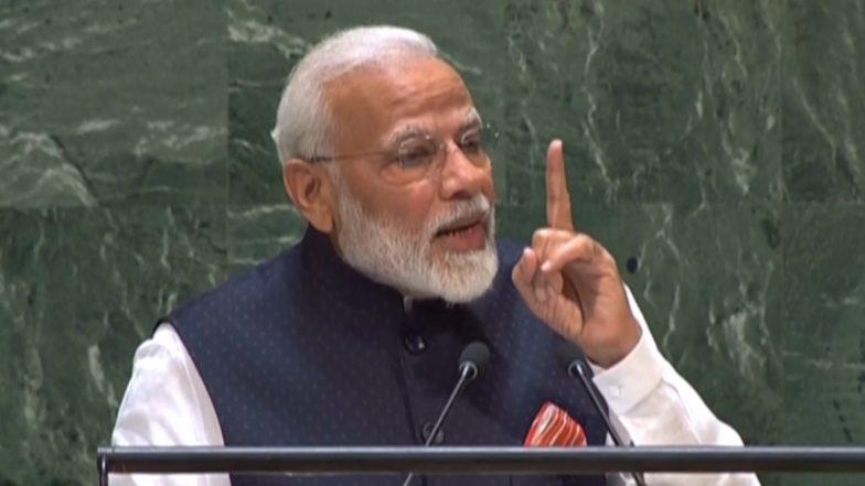 Modi at UNGA: భారతదేశం ఒక బౌద్ధ క్షేతం, అంతేకాని యుద్ధ క్షేత్రం కాదు! కాశ్మీర్ పేరు ఎత్తకుండానే, సూటిగా చెప్పాల్సిన విషయం చెప్పిన నరేంద్ర మోదీ, ఐరాసలో భారత ప్రధాని స్పీచ్
