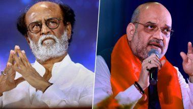 Rajinikanth vs Amit Shah on Hindi Row: అమిత్ షా.. బలవంతంగా హిందీని మాపై రుద్దవద్దు, తమిళులు హిందీ అంగీకరించే ప్రసక్తే లేదు, నీ ప్రయత్నం మానుకో, హోం మంత్రి వ్యాఖ్యలకు సూపర్స్టార్ రజినీకాంత్ కౌంటర్