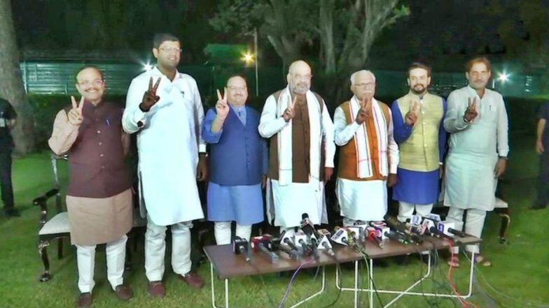 Haryana Government Formation: హర్యానాలో చక్రం తిప్పిన అమిత్ షా, ప్రభుత్వ ఏర్పాటుకు జేజేపీ అండ, దుష్యంత్ చౌతాలాకు డిప్యూటీ సీఎం పదవి ఆఫర్, విఫలమైన కాంగ్రెస్ ఫ్రయత్నాలు, మనోహర్ లాల్ ఖట్టర్నే మళ్లీ సీఎం