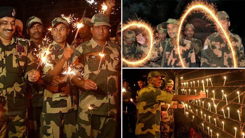 Indian Soldiers Diwali Celebrations: బార్డర్లో భారత సైనికుల దివాళీ వేడుకలు, దీపాల వెలుగులతో వెలుగులు విరజిమ్మిన ఇండియా బార్డర్, శుభాకాంక్షలు తెలిపిన చైనా ఆర్మీ, ట్విట్టర్లో శుభాకాంక్షలు తెలిపిన మోడీ