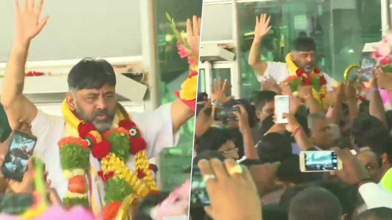 D.K.Shivakumar Kabali look: నేను వచ్చేశా, కబాలి లుక్తో అదరగొడుతున్న కాంగ్రెస్ ట్రబుల్ షూటర్, 50 రోజుల తర్వాత సొంతగడ్డ మీదకు, మనీలాండరింగ్ కేసులో అరెస్ట్, తీహార్ జైలు నుంచి బెయిల్పై విడుదలైన కర్ణాటక మాజీ మంత్రి డీకే శివకుమార్