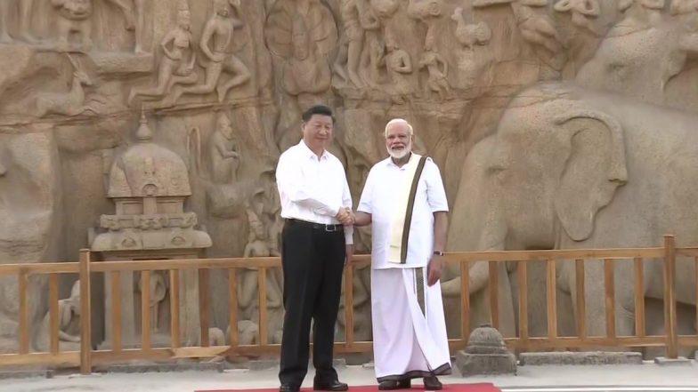 PM Modi With Lungi: మరోసారి పంచె కట్టులో అదరగొట్టిన మోడీ, మహాబలిపురంలో జిన్పింగ్కు ఘన స్వాగతం, సోషల్ మీడియాలో వైరల్ అవుతున్న ఫోటోలు