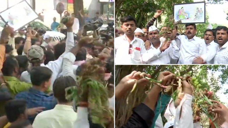 Farmers Protest In Maharashtra: మహారాష్ట్రలో రైతుల నిరసనలు, దెబ్బతిన్న పంటతో రోడ్డెక్కిన రైతులు, రాజ్ భవన్ ముట్టడికి ప్రయత్నం, రైతులను అరెస్ట్ చేసి స్టేషన్కు తరలించిన పోలీసులు
