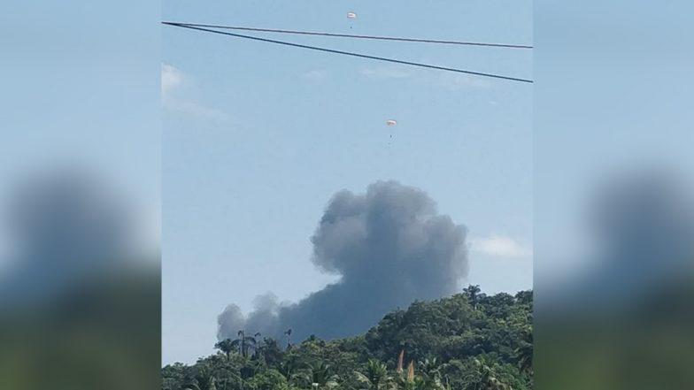 MiG-29K Fighter Aircraft Crash: టేకాఫ్ అయిన కొద్ది సేపటికే గోవాలో కూలీన భారత నావికాదళానికి చెందిన మిగ్- 29కే యుద్ధ విమానం, ఇద్దరు పైలట్లు సురక్షితం