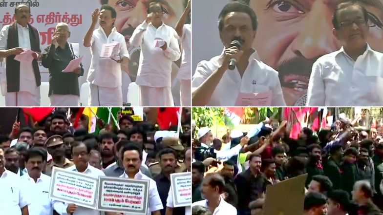 DMK Mega Rally At Chennai: డిఎంకే మెగా ర్యాలీ, పౌరసత్వ చట్ట సవరణకు వ్యతిరేకంగా తమిళనాడులో నిరసనలు, ర్యాలీకి అనుమతిని నిరాకరించిన పోలీసులు, ర్యాలీ మొత్తాన్ని వీడియోలో చిత్రీకరించాలన్న మద్రాసు హైకోర్టు