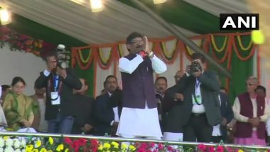 Jharkhand CM Swearing-in Ceremony: జార్ఖండ్ పీఠంపై హేమంత్ సోరెన్, 11వ ముఖ్యమంత్రిగా ప్రమాణ స్వీకారం, ప్రతిపక్షాల ఐక్యతతో దద్దరిల్లిన సభా ప్రాంగణం, హాజరయిన ప్రముఖులు