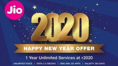 Jio '2020' Offer: జియో నుంచి బంపరాఫర్, రూ.2020తో రీఛార్జ్ చేసుకుంటే ఏడాది పాటు అన్ లిమిటెడ్, డిసెంబర్ 24 నుంచి ప్లాన్ అమల్లోకి, స్మార్ట్ఫోన్, జియోఫోన్ యూజర్లంతా అర్హులే