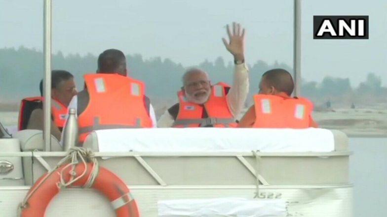 Narendra Modi: పవిత్ర గంగానదిలో ప్రధాని మోడీ బోటు షికారు, గంగానది ప్రక్షాళన కోసం నమామి గంగ ప్రాజెక్టు చేపట్టిన మోడీ సర్కారు, చంద్రశేఖర్ ఆజాద్కు నివాళి అర్పించిన భారత ప్రధాని