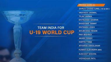 2020 Under-19 Cricket World Cup: 5వసారి ప్రపంచకప్ కొట్టేందుకు భారత్ జట్టు రెడీ, అండర్- 19 ప్రపంచకప్ జట్టును ప్రకటించిన బీసీసీఐ, హైదరాబాద్ నుంచి తిలక్ వర్మకి చోటు, కెప్టెన్గా ప్రియం గార్గ్