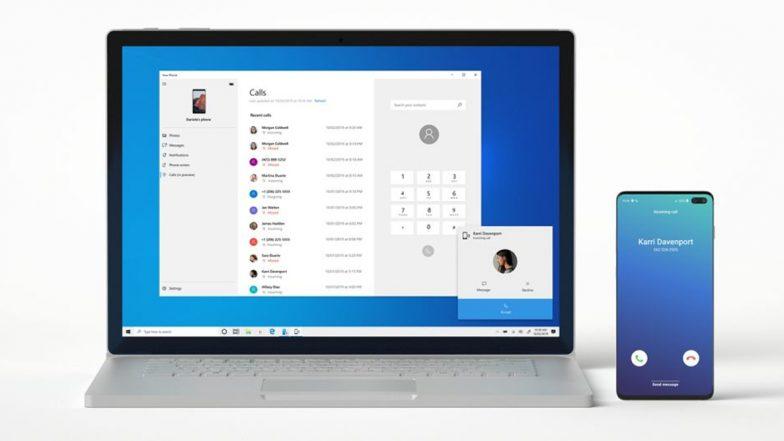 Windows 10 Good News: ఇకపై పీసీ నుంచే నేరుగా కాల్స్ చేసుకోవచ్చు, విండోస్ 10లోకి కొత్త ఫీచర్, ఫోన్కు వచ్చే ఎస్ఎంఎస్లను కూడా పీసీలోనే చూడవచ్చు, ఎలా లాగిన్ కావాలో ఓ సారి తెలుసుకోండి