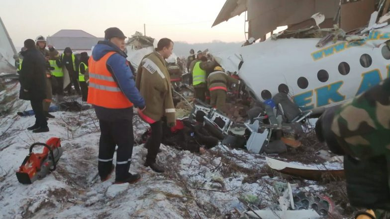 Kazakhstan Plane Crash: కజకిస్థాన్లో ఘోర విమాన ప్రమాదం, టేకాఫ్ తీసుకున్న కొద్దిసేపటికే భవనాన్ని ఢీకొట్టి క్రాష్ అయిన ఎయిర్క్రాఫ్ట్, ప్రమాద సమయంలో విమానంలో 100 మంది
