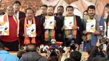 Delhi Elections-BJP Manifesto: ఢిల్లీని అంతర్జాతీయ నగరంగా తీర్చిదిద్దుతాం, ఎన్నికల మేనిఫెస్టోని విడుదల చేసిన బీజేపీ, ఢిల్లీ ప్రజలకు వరాల జల్లులు కురిపించిన భారతీయ జనతా పార్టీ