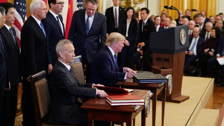 US-China Trade Deal: అమెరికా -చైనాల మధ్య కుదిరిన వాణిజ్య ఒప్పందం, రెండేళ్ల వాణిజ్య యుద్ధానికి ముగింపు అని పేర్కొన్న యూఎస్ అధ్యక్షుడు డొనాల్డ్ ట్రంప్