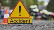 Guntur Road Accident: గుంటూరులో ఘోర రోడ్డు ప్రమాదం, నలుగురు మృతి, విజయవాడ వైపు వెళ్తన్న కారును ఢీకొట్టిన కంటైనర్ లారీ
