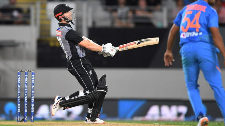 NZ vs Ind 1st T20: భారత్ విజయ లక్ష్యం 204 పరుగులు , తొలి టీ20 మ్యాచ్లో అదరగొట్టిన కివీస్ బ్యాట్స్మెన్, ముగ్గురు అర్ధ సెంచరీలు