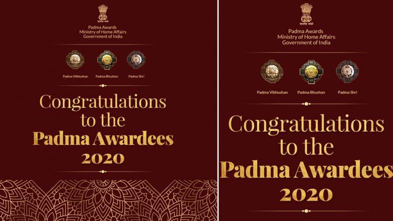Padma Awards 2020: తెలుగు రాష్ట్రాలకు 5 పద్మ అవార్డులు, ఏడు మందికి పద్మ విభూషణ్, 16 మందికి పద్మ భూషణ్, 118మందికి పద్మ శ్రీ అవార్డులు, భారత గణతంత్ర దినోత్సవం రోజున పురస్కారాలు అందుకున్న వారి మొత్తం లిస్ట్ ఇదే