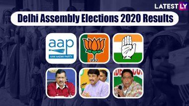 Delhi Assembly Elections 2020 Results:  దిల్లీలో హ్యాట్రిక్ కొట్టబోతున్న సామాన్యుడు, స్పష్టమైన మెజారిటీ దిశగా ఆమ్ ఆద్మీ పార్టీ, కిందపడ్డా తమదే పైచేయి అంటోన్న బీజేపీ
