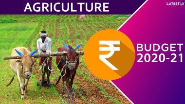 Agriculture Budget 2020-21: రెండేళ్లలో రైతుల ఆదాయం రెట్టింపు చేస్తాం! వ్యవసాయం, నీటిపారుదల కోసం రూ .2.83 లక్షల కోట్లు, వ్యవసాయ రుణాల కోసం రూ.15 లక్షల కోట్లు సమకూర్పు