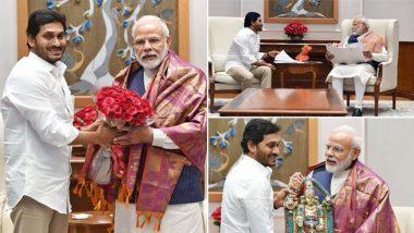 Jagan Meets PM Modi: గంటన్నర పాటు ప్రధాని మోదీతో ఏపీ సీఎం వైయస్ జగన్ భేటీ, రాష్ట్ర ప్రయోజనాలపై కీలక చర్చలు, ఉగాది రోజున ఇళ్ల పట్టాల పంపిణీకి రావలిసిందిగా ప్రధానికి ఆహ్వానం
