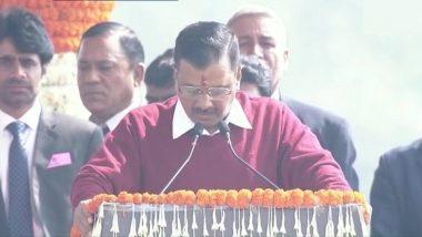 Delhi CM Kejriwal Turns Singer: హమ్ హోంగే కామియాబ్ పాటతో అదరగొట్టిన ఆప్ అధినేత, మూడోసారి ఢిల్లీ సీఎంగా ప్రమాణ స్వీకారం చేసిన అరవింద్ కేజ్రీవాల్, మంత్రులుగా 6 మంది ఎమ్మెల్యేలు ప్రమాణ స్వీకారం