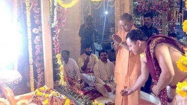 Ram Lalla Idol Shifting: అయోధ్యలో కీలక ఘట్టం, రామ జన్మభూమి ప్రాంగణంలోకి రాముని విగ్రహం, 9.5 కిలోల సింహాసనంపై రాముని విగ్రహాన్ని ప్రతిష్ఠించిన యూపీ సీఎం యోగీ ఆదిత్యనాథ్