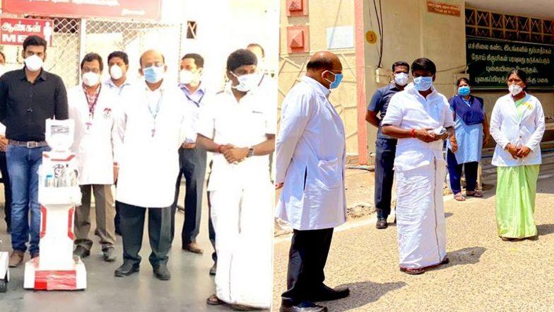 Robotic Nurses in TN: తమిళనాడులో కరోనా కల్లోలం, రోబోలే నర్సులు, కరోనా రోగులకు ఆహారం, మందులు ఇచ్చేందుకు రంగంలోకి దిగిన రోబోలు, 411కి చేరిన కోవిడ్ 19 కేసుల సంఖ్య