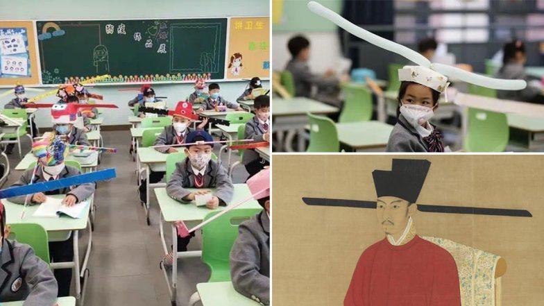 Schools Reopened in China: విద్యార్థులకు కొత్తగా డీఐవై టోపీలు, చైనాలో తిరిగి ప్రారంభమైన స్కూళ్లు, సోషల్ మీడియాలో వైరల్ అవుతున్న విద్యార్థుల ఫోటోలు