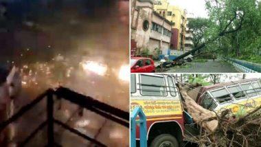 Cyclone Amphan Videos: విధ్వంసం సృష్టించిన అంఫాన్, వెస్ట్ బెంగాల్,ఒడిషాలో భారీగా ఆస్తి నష్టం, నీటిలో మునిగిపోయిన లోతట్టు ప్రాంతాలు, వీడియోల్లో విధ్వంసం ఎలా ఉందో మీరే చూడండి