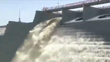 Konda Pochamma Sagar Reservoir: కొండపోచమ్మ సాగర్ రిజర్వాయర్ను ప్రారంభించిన తెలంగాణ సీఎం కేసీఆర్, ఐదు జిల్లాలకు సాగు, తాగునీటి అవసరాలను తీర్చనున్న రిజర్వాయర్