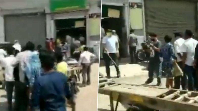 Delhi Lockdown 3.0: ఢిల్లీలో వైన్ షాపు వద్ద లాఠీఛార్జ్, సామాజిక దూరాన్ని పాటించని ఢిల్లీ మద్యం ప్రియులు, వైన్ షాపు మూసివేసిన పోలీస్ అధికారులు