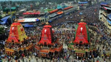 Jagannath Puri Rath Yatra 2021: ఘనంగా పూరీ జగన్నాథ రథయాత్ర, కరోనా కారణంగా భక్తులకు అనుమతి నిరాకరణ, పూరీ రాజు, వేది పండితులు, ఆలయ అర్చకులు, సిబ్బందితో రథయాత్ర