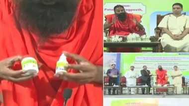Patanjali COVID-19 Medicine: కరోనాకు చెక్ పెట్టేందుకు కోరోనిల్, 150కి పైగా ఔషద మొక్కల నుంచి మందును తయారుచేసినట్లు వెల్లడించిన పతంజలి సంస్థ, మార్కెట్లోకి విడుదల చేసిన రాందేవ్ బాబా