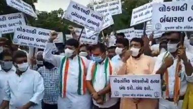 Rajasthan Political Crisis: గుజరాత్, తమిళనాడును తాకిన రాజస్థాన్ రాజకీయ సెగలు, రాజ్భవన్ను ముట్టడించిన కాంగ్రెస్ పార్టీ, కాంగ్రెస్ చీఫ్ సహా 60 మందిని అదుపులోకి తీసుకున్న పోలీసులు