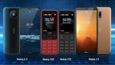 Nokia Phones Launched: నోకియా నుంచి ఒకేసారి 4 కొత్త ఫోన్లు, నోకియా 5.3, నోకియా సీ3, నోకియా 150, నోకియా 125 ఫోన్లను లాంచ్ చేసిన హెచ్ఎండీ గ్లోబల్, ధర,ఫీచర్లపై ఓ లుక్కేయండి