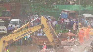 Raigad Building Collapse Update: ఇద్దరు మృతి, శిధిలాల కింద మరో 18 మంది, మహారాష్ట్రలో కూలిన ఐదు అంతస్తుల భవనం