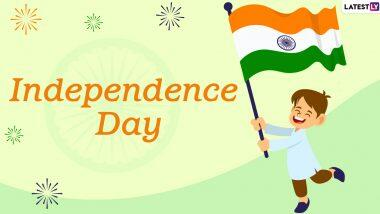 Happy Independence Day 2020 Greetings: భారత స్వాతంత్ర్య దినోత్సవం, అందరికీ 74వ స్వాతంత్ర్య దినోత్సవ శుభాకాంక్షలు, WhatsApp Status, Quotes, Facebook Captions మీకోసం..