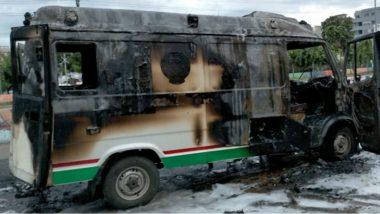 108 Ambulance Ablaze in Ongole: రోగుల్ని కాపాడే 108కే నిప్పంటించారు, ఒంగోలు పోలీస్టేషన్ పరిధిలో ఓ రౌడీ వీరంగం, అర్ధరాత్రి పోలీసులకు చుక్కలు చూపించిన రౌడీ షీటర్