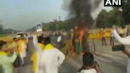 Farm Bills Protest: రైతు ఘోష..ఇండియా గేట్ వద్ద ట్రాక్టర్ను దగ్ధం చేసిన రైతులు, వ్యవసాయ బిల్లులకు వ్యతిరేకంగా కర్షకుల నిరసనతో భగ్గుమన్న దేశ రాజధాని