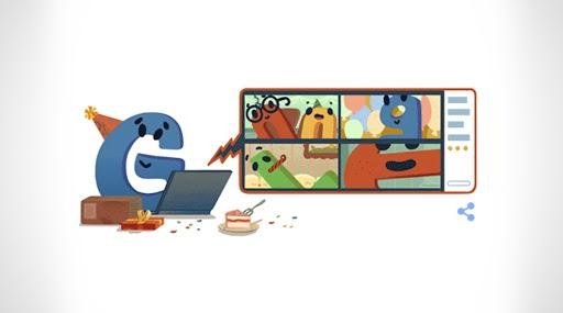 Google's 22nd Birthday: Google 22వ పుట్టినరోజు, ప్రత్యేక డూడుల్ని విడుదల చేసిన గూగుల్, ల్యాప్టాప్ ముందు కూర్చుని గూగుల్ వీడియో కాల్ చేస్తున్నట్లుగా డూడుల్