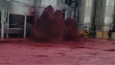 Red Wine Explodes in Spain: మందుబాబులు షాకయ్యే వార్త, ఏరులై పారిన రెడ్ వైన్, సోషల్ మీడియాలో వైరల్ అవుతున్న వీడియోని చూసి గుండెలు బాదుకుంటున్న మద్యం ప్రియులు