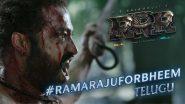 #RamarajuForBheem : 'భూతల్లి చనుబాలు తాగిన మన్యం ముద్దుబిడ్డ, గోండు బెబ్బులి కొమరం భీమ్' వచ్చేశాడు! రామ్ చరణ్ గంభీరమైన గళంతో 'RRR భీమ్' టీజర్ వీడియో రిలీజ్