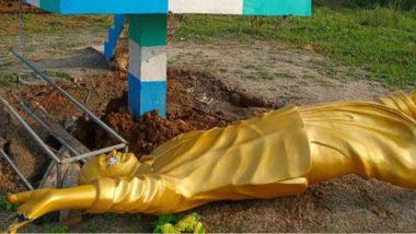 Y. S. Rajasekhara Reddy Statue Demolition: వై.యస్. రాజశేఖరరెడ్డి విగ్రహాన్ని కూల్చివేసిన గుర్తు తెలియని వ్యక్తులు, శ్రీకాకుళం జిల్లాలో కొరమలో ఘటన, విచారణ చేపట్టిన పోలీసులు
