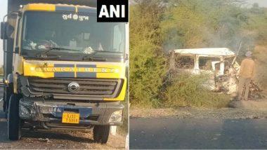 Car-Truck Collision: మంటల్లో ఏడుగురు సజీవ దహనం, గుజరాత్లో కారును ఢీకొట్టిన ట్రక్, సురేంద్రనగర్ జిల్లా కేంద్రం సమీపంలో విషాద ఘటన
