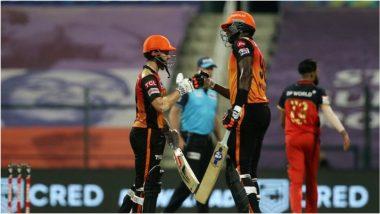 SRH vs RCB Highlights IPL 2020: ఉత్కంఠభరిత పోరులో సన్రైజర్స్ హైదరాబాద్ సూపర్ విక్టరీ, ఎలిమినేటర్ మ్యాచ్లో 6 వికెట్ల తేడాతో గెలుపు, బెంగళూరుకు 'ఈసాల' కూడా హ్యాండ్ ఇచ్చిన ఐపీఎల్ కప్