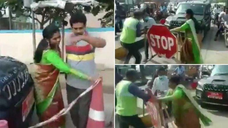 YCP Leader Goes Viral: టోల్ ఫీజ్ కట్టేందుకు నిరాకరిస్తూ ఆంధ్రప్రదేశ్ వడ్డెర కార్పోరేషన్ చైర్ పర్సన్ వాగ్వాదం, టోల్ ప్లాజా సిబ్బంది చెంప చెల్లుమనిపించిన వైసీపీ నాయకురాలు,  వైరల్ అవుతున్న వీడియో