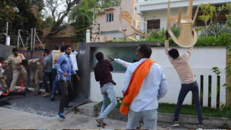 BJP Activists Attack on TRS MLA House: హన్మకొండలో తీవ్ర ఉద్రిక్తత, టీఆర్ఎస్ ఎమ్మెల్యే చల్లా ధర్మారెడ్డి ఇంటిపై రాళ్లు, కోడిగుడ్లు విసిరిన బీజేపీ నేతలు, వివాదాస్పదమైన ఎమ్మెల్యే అయోధ్య రామాలయం వ్యాఖ్యలు
