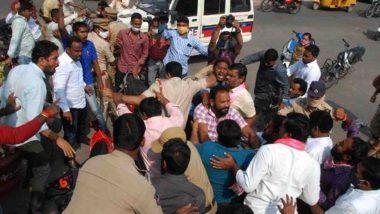TRS-BJP Clash at Telangana Chowk: టీఆర్ఎస్, బీజేపీ ఫైటింగ్..కిందపడిన ఎస్ఐ, తెలంగాణ చౌక్ వేదికగా దాడికి దిగిన ఇరుపార్టీల నాయకులు, పలువురికి గాయాలు, సీఎం కేసీఆర్పై అనుచిత వ్యాఖ్యలు చేసిన బండి సంజయ్