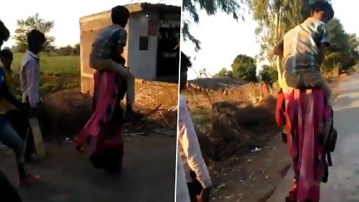 MP Woman Shamed: మహిళపై దారుణం, మూడు కిలోమీటర్లు వ్యక్తిని మోసుకుంటూ వెళ్లాలని హుకుం జారీ చేసిన గ్రామస్తులు, మధ్యప్రదేశ్లో ఆటవిక చర్య, కేసు నమోదు చేసిన పోలీసులు
